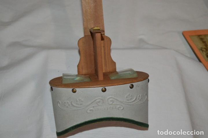 Antigüedades: Antiguo/vintage / Visor Estereoscópico + 2 VISTAS / En caja - ¡Funcionando, estado IMPECABLE, MIRA! - Foto 5 - 284365088