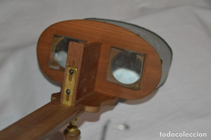 Antigüedades: Antiguo/vintage / Visor Estereoscópico + 2 VISTAS / En caja - ¡Funcionando, estado IMPECABLE, MIRA! - Foto 6 - 284365088