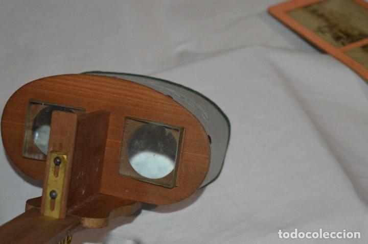 Antigüedades: Antiguo/vintage / Visor Estereoscópico + 2 VISTAS / En caja - ¡Funcionando, estado IMPECABLE, MIRA! - Foto 7 - 284365088