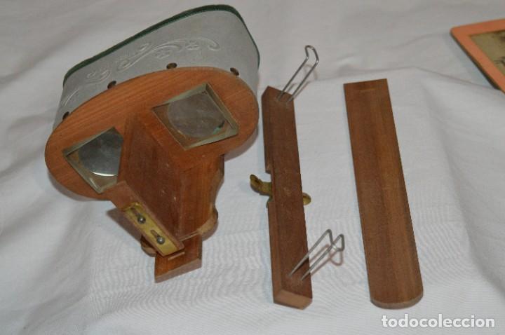 Antigüedades: Antiguo/vintage / Visor Estereoscópico + 2 VISTAS / En caja - ¡Funcionando, estado IMPECABLE, MIRA! - Foto 8 - 284365088