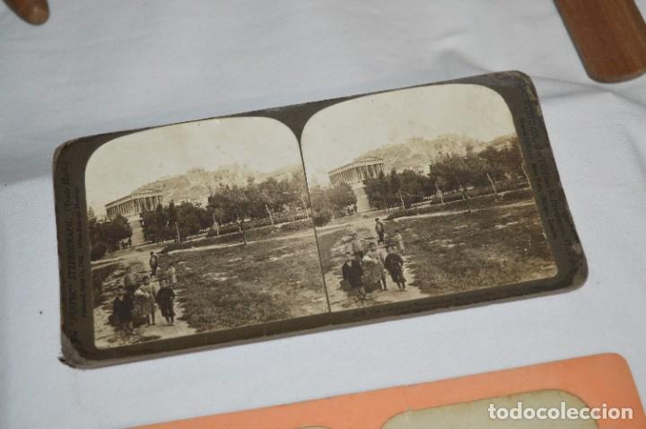 Antigüedades: Antiguo/vintage / Visor Estereoscópico + 2 VISTAS / En caja - ¡Funcionando, estado IMPECABLE, MIRA! - Foto 12 - 284365088