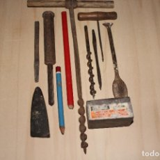 Antigüedades: HERRAMIENTAS DE CARPINTERO ANTIGUAS Y OTRAS A IDENTIFICAR.. Lote 284416833