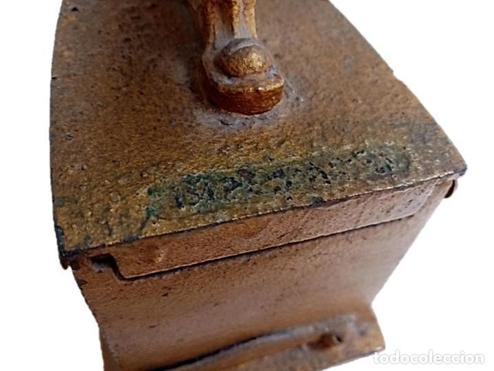 Antigüedades: PLANCHA CARBÓN S XIX INSCRIPCION FABRICANTE - Foto 3 - 284564588