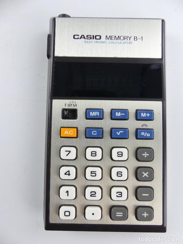 CALCULADORA CASIO MEMORY B-1 JAPON (Antigüedades - Técnicas - Aparatos de Cálculo - Calculadoras Antiguas)