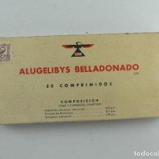 Antiquités: ANTIGUO FÁRMACO MEDICINA – ALUGELIBYS BELLADONADO - OBJETO DE COLECCIÓN. Lote 284610603
