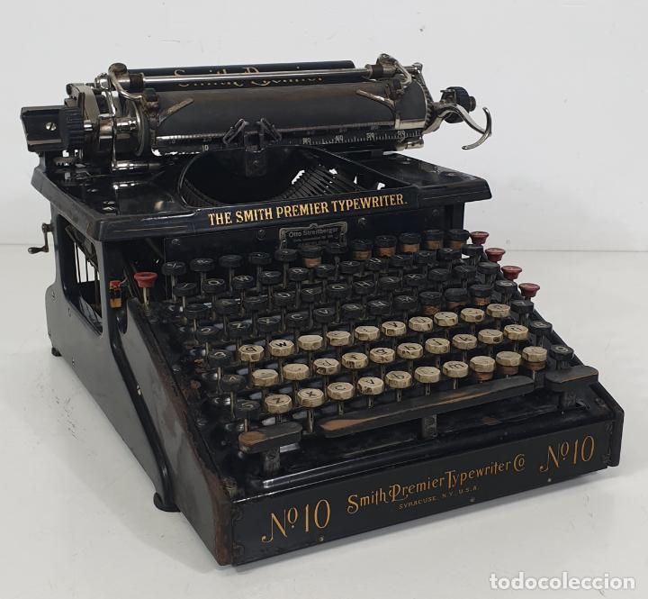 MÁQUINA DE ESCRIBIR - SMITH PREMIER TYPEWRITER Nº 10 - DOBLE TECLADO - SYRACUSE, U.S.A - CIRCA 1910 (Antigüedades - Técnicas - Máquinas de Escribir Antiguas - Smith)
