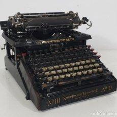 Antigüedades: MÁQUINA DE ESCRIBIR - SMITH PREMIER TYPEWRITER Nº 10 - DOBLE TECLADO - SYRACUSE, U.S.A - CIRCA 1910. Lote 284686303