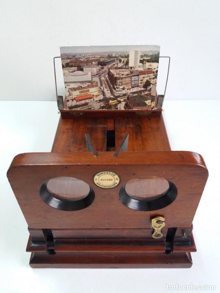 Antigüedades: GRANDE Y PRECIOSO GRAPHOSCOPE VICTORIANO ROSWELL EN MADERA DE PALISANDRO MAS DE 150 AÑOS DE MUSEO - Foto 49 - 284733708