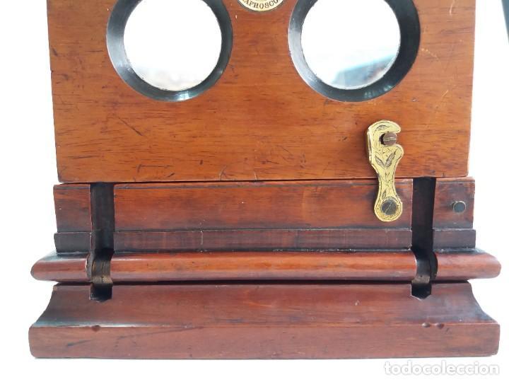 Antigüedades: GRANDE Y PRECIOSO GRAPHOSCOPE VICTORIANO ROSWELL EN MADERA DE PALISANDRO MAS DE 150 AÑOS DE MUSEO - Foto 52 - 284733708