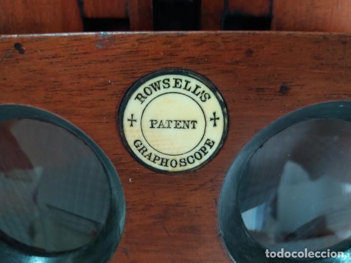 Antigüedades: GRANDE Y PRECIOSO GRAPHOSCOPE VICTORIANO ROSWELL EN MADERA DE PALISANDRO MAS DE 150 AÑOS DE MUSEO - Foto 65 - 284733708