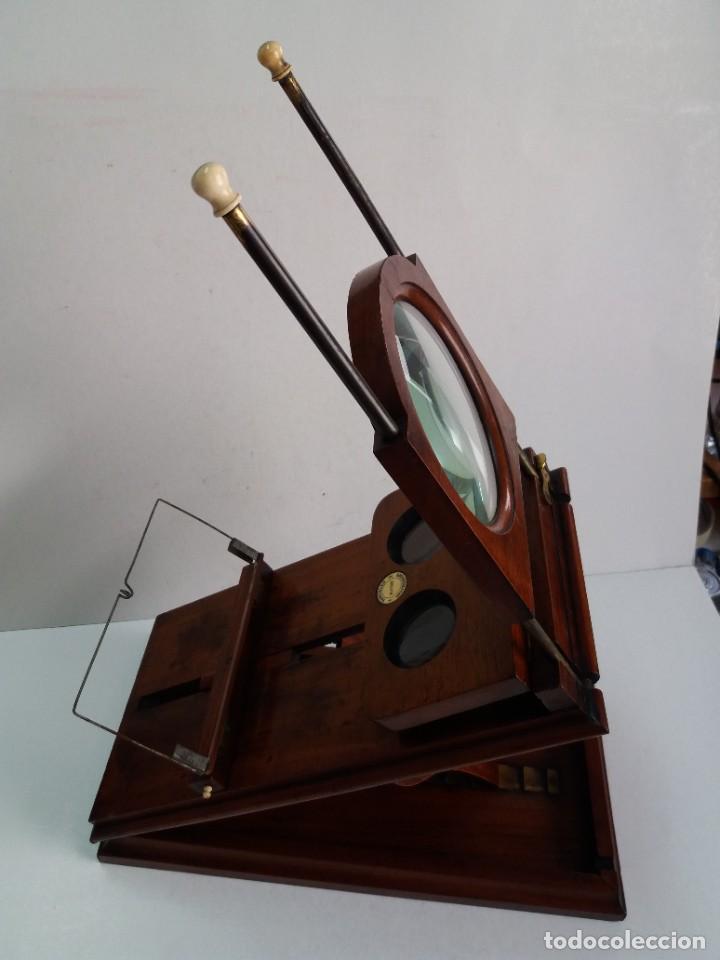 Antigüedades: GRANDE Y PRECIOSO GRAPHOSCOPE VICTORIANO ROSWELL EN MADERA DE PALISANDRO MAS DE 150 AÑOS DE MUSEO - Foto 72 - 284733708