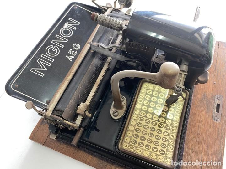 """Antigüedades: maquina de escribir MIGNON """"AEG"""" - Foto 9 - 284771673"""
