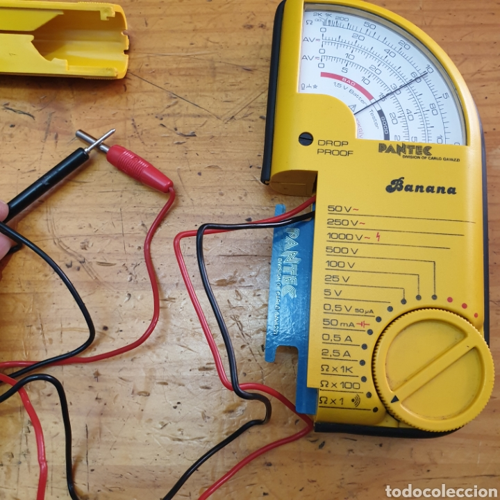 "Antigüedades: Tester Analogico Multimeter voltmeter PANTEC mod.""Banana"" - Foto 5 - 285069198"
