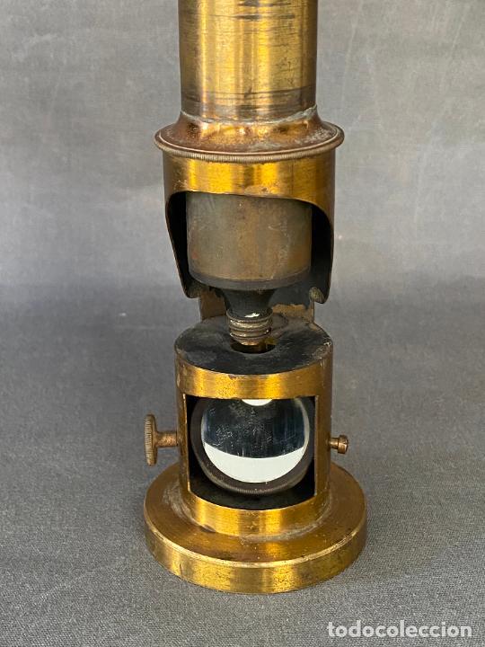 Antigüedades: MICROSCOPIO DE ESTUDIANTE MONOCULAR , VIAJE , INSTRUMENTO CIENTIFICO .INCOMPLETO - Foto 7 - 285111628