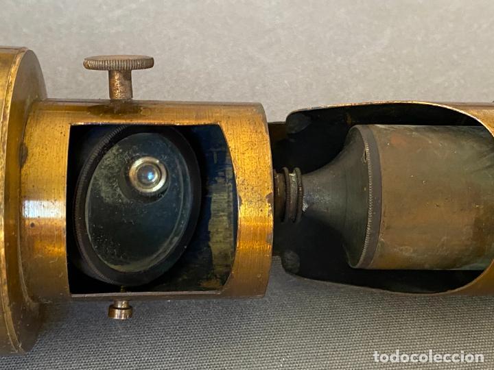 Antigüedades: MICROSCOPIO DE ESTUDIANTE MONOCULAR , VIAJE , INSTRUMENTO CIENTIFICO .INCOMPLETO - Foto 9 - 285111628