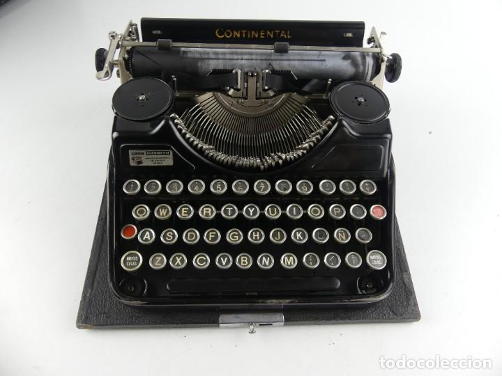 ANTIGUA MÁQUINA DE ESCRIBIR PORTÁTIL CONTINENTAL (Antigüedades - Técnicas - Máquinas de Escribir Antiguas - Otras)