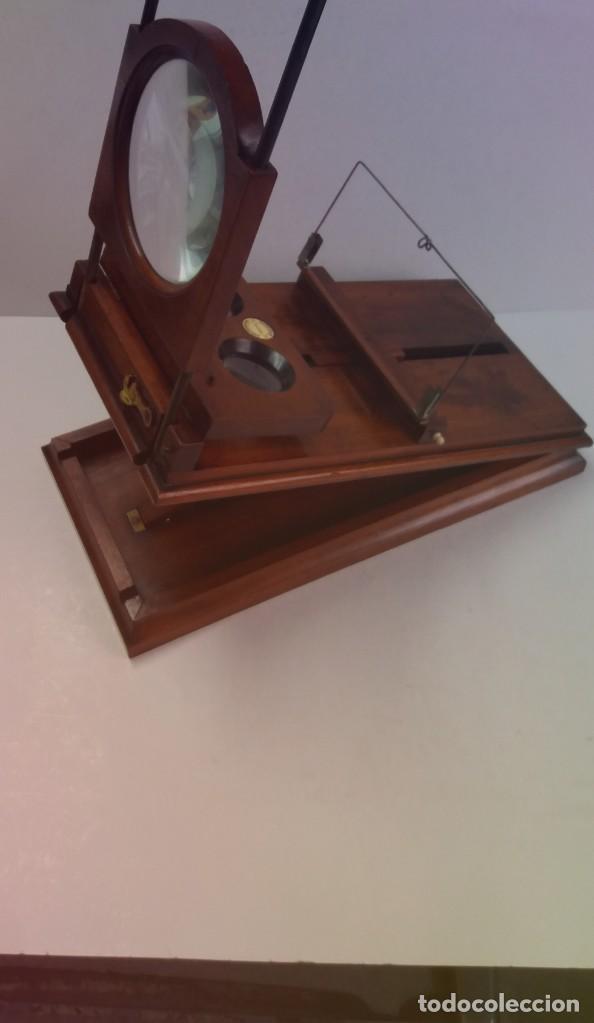 GRANDE Y PRECIOSO GRAPHOSCOPE VICTORIANO ROSWELL EN MADERA DE PALISANDRO MAS DE 150 AÑOS DE MUSEO (Antigüedades - Técnicas - Otros Instrumentos Ópticos Antiguos)
