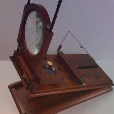 Antigüedades: PRECIOSO GRAPHOSCOPE VICTORIANO ROSWELL EN MADERA DE PALISANDRO MAS DE 150 AÑOS DE MUSEO. Lote 284733708