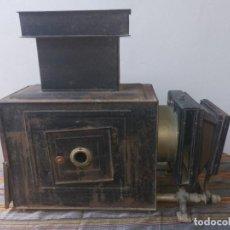 Antigüedades: LINTERNA MÁGICA METAL. GRAN TAMAÑO 60X54 CMS.. FINALES XIX PP XX. EXCELENTE PIEZA . PARA REPARAR. Lote 285407368