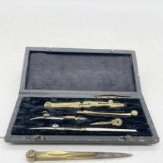 Antiquités: ANTIGUO JUEGO DE COMPÁS. Lote 285407803