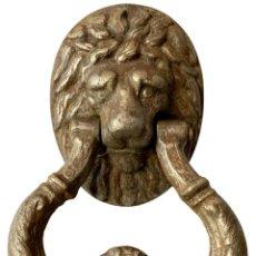 Antigüedades: LLAMADOR, ALDABA GÓTICA DE HIERRO FORJADO. SIGLO XV. RESTAURADA. LEÓN. 25X16X15. Lote 282266278