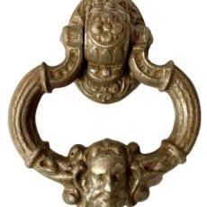 Antigüedades: LLAMADOR, ALDABA GÓTICA DE HIERRO FORJADO. SIGLO XV. RESTAURADA. SEÑOR, LUCIFER, DIABLO. 18X14X6. Lote 285638043