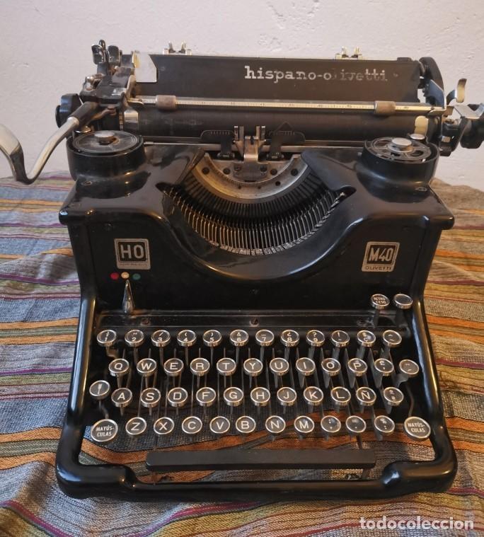 ANTIGUA MAQUINA DE ESCRIBIR HISPANO OLIVETTI HO M40 AÑOS 30 HIERRO. FUNCIONA. SOLO PUESTA A PUNTO (Antigüedades - Técnicas - Máquinas de Escribir Antiguas - Olivetti)