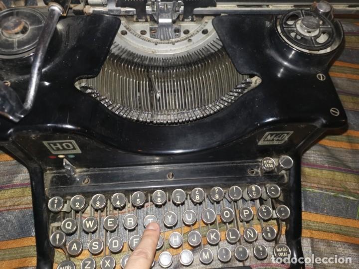 Antigüedades: ANTIGUA MAQUINA DE ESCRIBIR HISPANO OLIVETTI HO M40 AÑOS 30 HIERRO. FUNCIONA. SOLO PUESTA A PUNTO - Foto 16 - 285814058