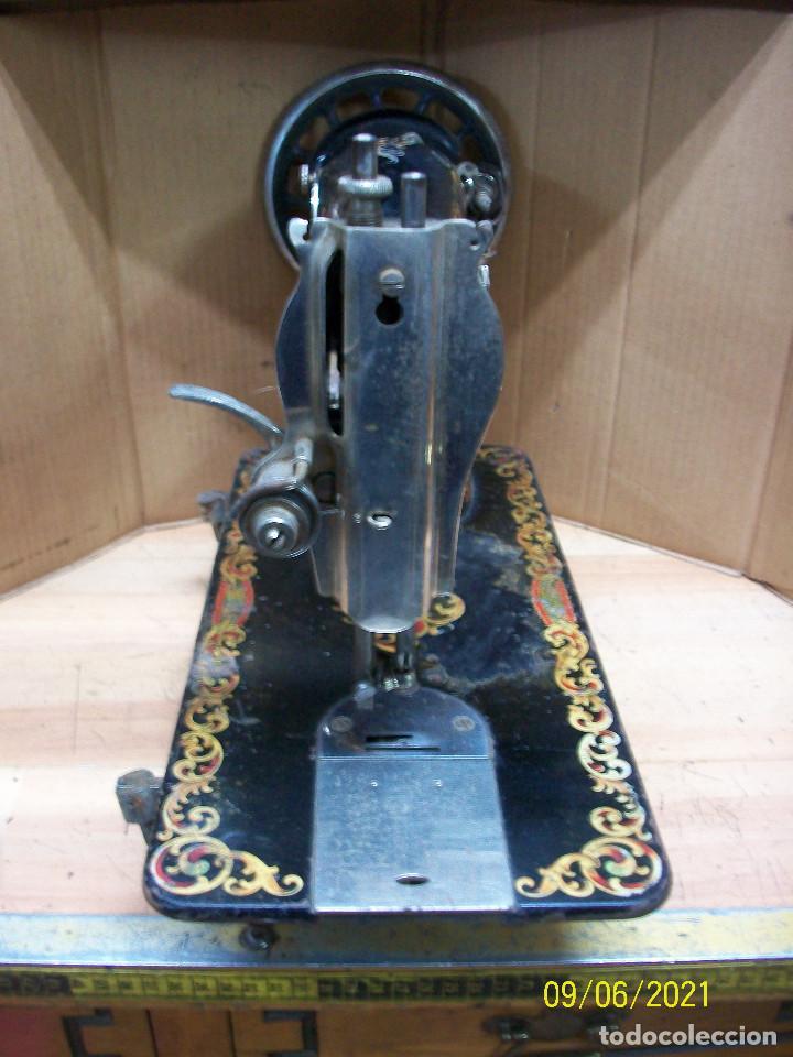 Antigüedades: ANTIGUA CABEZA DE MAQUINA DE COSER ALFA-DE LUJO-FUNCIONA - Foto 3 - 286192583