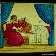 Antiguidades: ANTIGUO CRISTALES LINTERNA MAGICA S. XIX PINTADOS A MANO FRANCIA LAPIERRE PIERROT GROTESCO LOTE. Lote 286413173