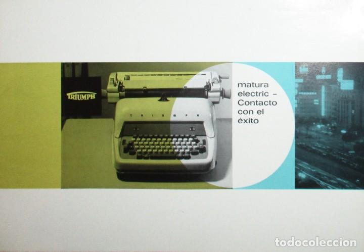 CATÁLOGO PUBLICITARIO DE LA MÁQUINA DE ESCRIBIR TRIUMPH MATURA ELÉCTRICA. EN ESPAÑOL. AÑOS 60. (Antigüedades - Técnicas - Máquinas de Escribir Antiguas - Triumph)