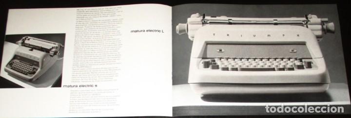 Antigüedades: CATÁLOGO PUBLICITARIO DE LA MÁQUINA DE ESCRIBIR TRIUMPH MATURA ELÉCTRICA. EN ESPAÑOL. AÑOS 60. - Foto 3 - 286431313