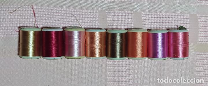 8 BOBINAS DE HILO PARA BORDAR (Antigüedades - Técnicas - Máquinas de Coser Antiguas - Complementos)