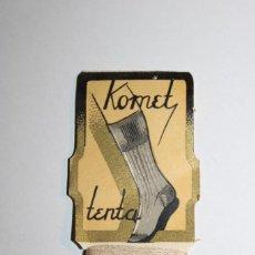 "Antigüedades: ANTIGUA TARJETA MUESTRAS DE HILO DE COSER DE LA MARCA PORTUGUESA ""KOMET-FMT"". Lote 286552328"