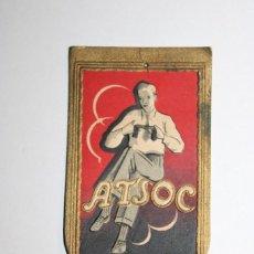 "Antigüedades: ANTIGUA TARJETA MUESTRAS DE HILO DE COSER DE LA MARCA PORTUGUESA ""ATSOC"". Lote 286552628"