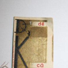 "Antigüedades: ANTIGUA TARJETA MUESTRAS DE HILO DE COSER DE LA MARCA PORTUGUESA ""DK-DÊ CÁ"". Lote 286552768"