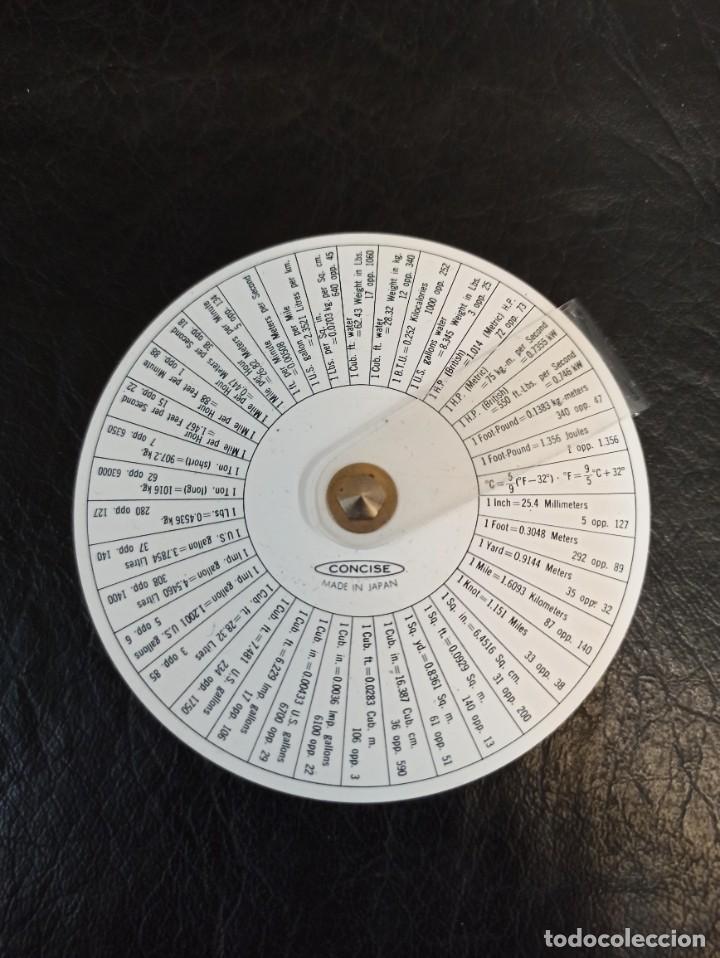 Antigüedades: Antigua regla circular. Concise. 3M. Con funda e instrucciones. C74 - Foto 2 - 286628843