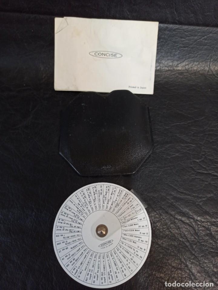 Antigüedades: Antigua regla circular. Concise. 3M. Con funda e instrucciones. C74 - Foto 4 - 286628843