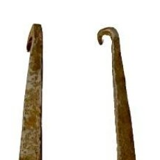Antigüedades: ANTIGUA BISAGRA GÓTICA DE HIERRO FORJADO. S. XV. 43X8 CM.. Lote 286669153