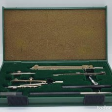 Antiquités: AMG-1107 CAJA COMPASES KIN ANTIGUA CHECOSLOVAQUIA. Lote 286683003
