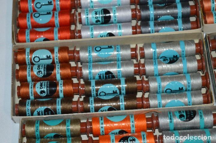 Antigüedades: 81 BOBINAS de HILO antiguas, sin uso / Muchos COLORES - DMC / DOLLFUS MIEG & CIE Paris -- Lote 02 - Foto 5 - 286877283