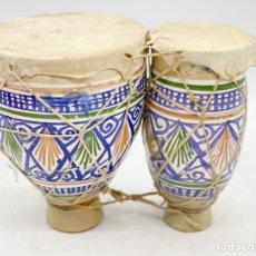 Antiquités: ANTIGUO TAMBOR DOBLE. Lote 286923183