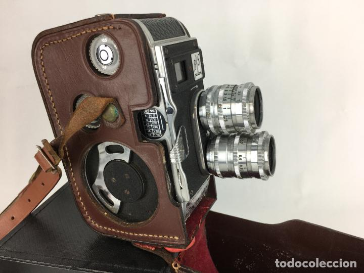 Antigüedades: Lote cámara cine de 8 mm Paillard Bolex B8 1955 Suiza - Foto 2 - 286941298
