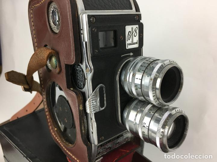 Antigüedades: Lote cámara cine de 8 mm Paillard Bolex B8 1955 Suiza - Foto 3 - 286941298