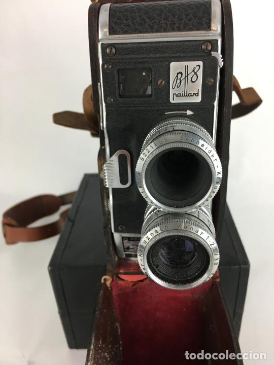 Antigüedades: Lote cámara cine de 8 mm Paillard Bolex B8 1955 Suiza - Foto 4 - 286941298