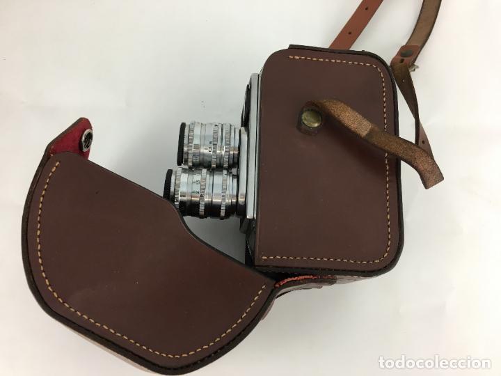 Antigüedades: Lote cámara cine de 8 mm Paillard Bolex B8 1955 Suiza - Foto 8 - 286941298
