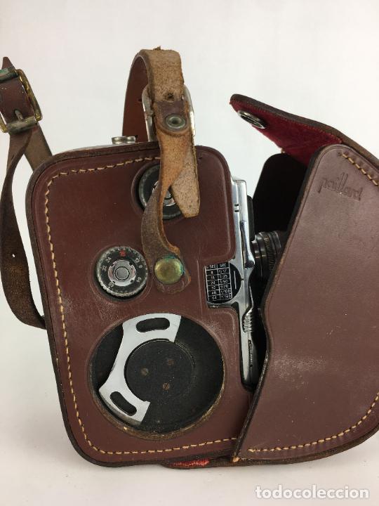 Antigüedades: Lote cámara cine de 8 mm Paillard Bolex B8 1955 Suiza - Foto 9 - 286941298