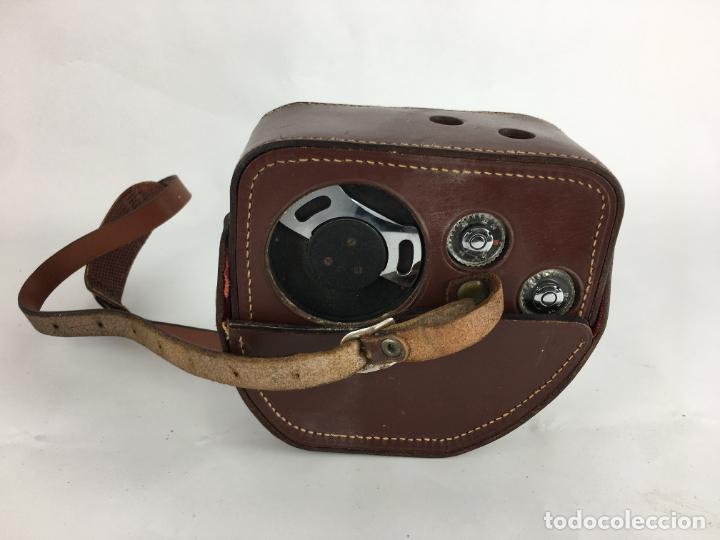 Antigüedades: Lote cámara cine de 8 mm Paillard Bolex B8 1955 Suiza - Foto 10 - 286941298