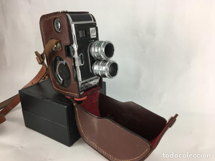 LOTE CÁMARA CINE DE 8 MM PAILLARD BOLEX B8 1955 SUIZA (Antigüedades - Técnicas - Aparatos de Cine Antiguo - Cámaras de Super 8 mm Antiguas)