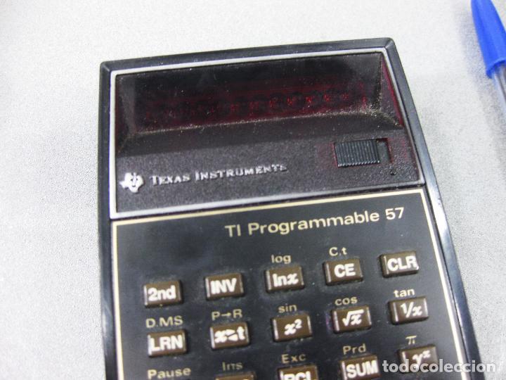 Antigüedades: CALCULADORA TEXAS INSTRUMENTS ELECTRONIC CALCULATOR TI PROGRAMMABLE 57 - Foto 2 - 286998738